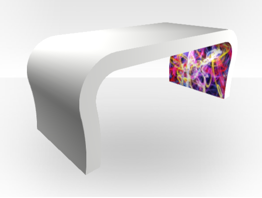 Graffiti Abstract Coffee Table Curved Zespoke