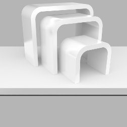 White Gloss iMac Desk - Nesting