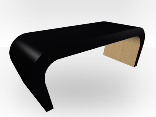 table basse ext rieure noire wedge int rieur ch ne. Black Bedroom Furniture Sets. Home Design Ideas