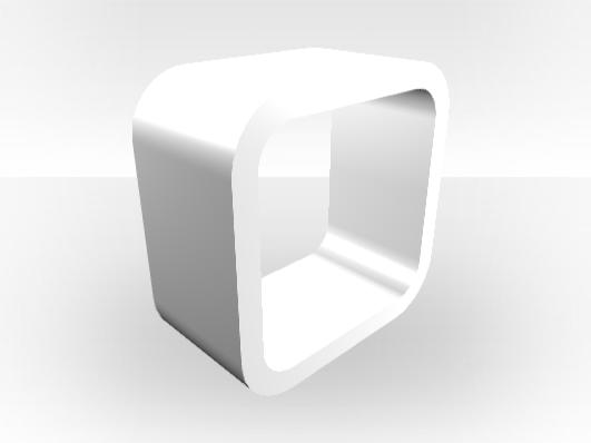 the best attitude 1314b c33f7 White Outer TV Media Unit Cube – White Gloss Inner - Zespoke