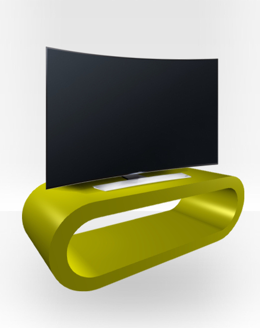 Green Gloss TV Stand – Large Hoop