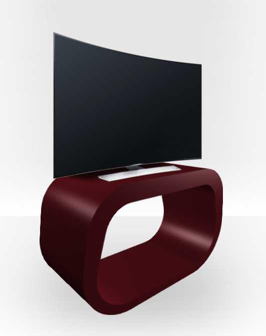 Burgundy Gloss TV Stand – Squoval