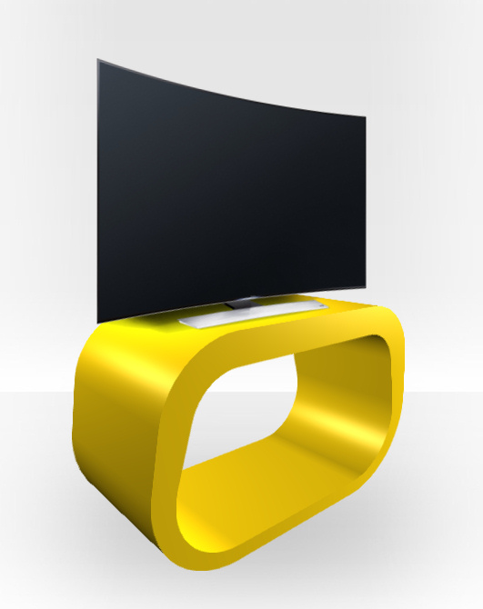 Yellow Gloss TV Stand – Squoval