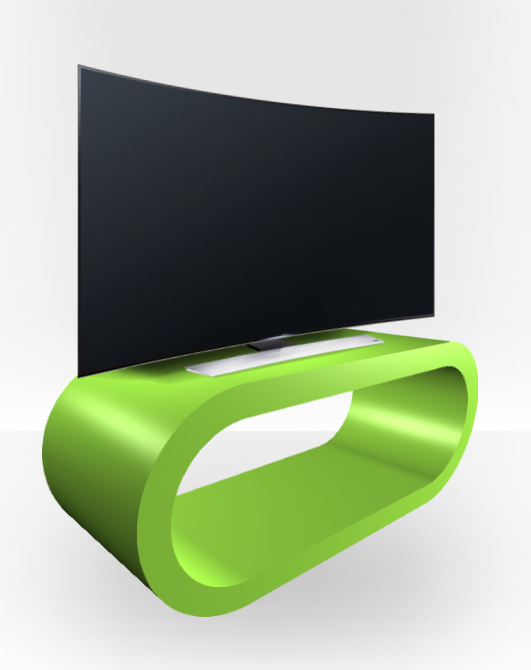 Apple Green Gloss TV Stand – Extra Large Hoop
