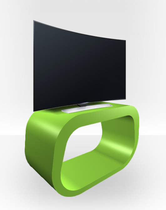 Apple Green Gloss TV Stand – Squoval