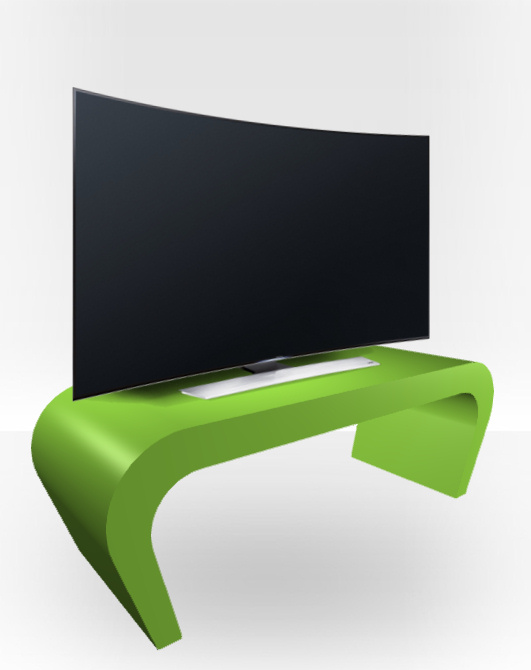Apple Green Gloss TV Stand – Wedge