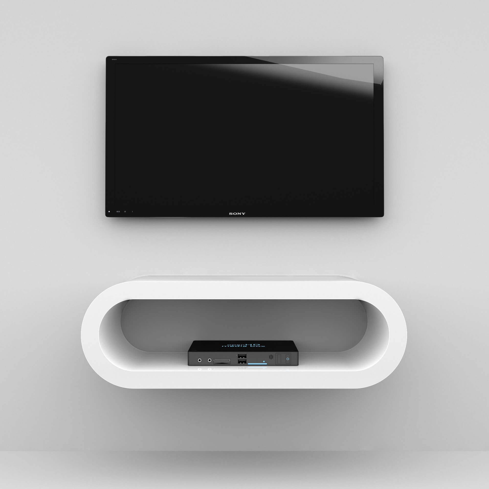 Wall Mounted Hoop Tv Stand